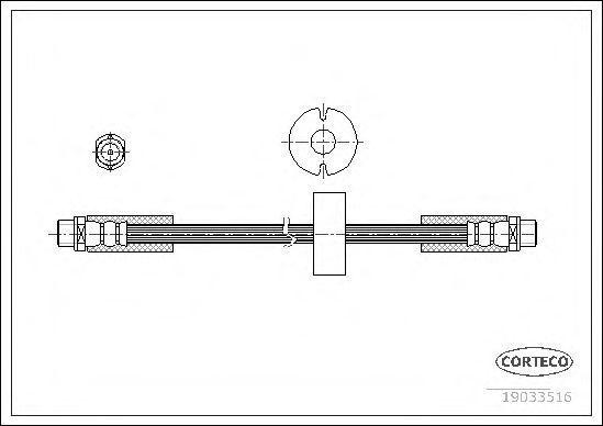 Шланг тормозной CORTECO 19033516