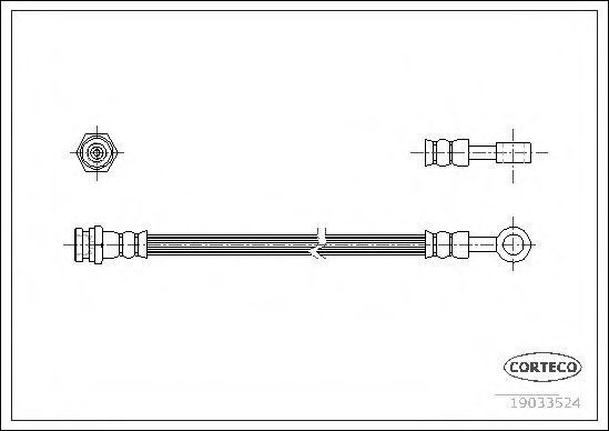 Шланг тормозной CORTECO 19033524