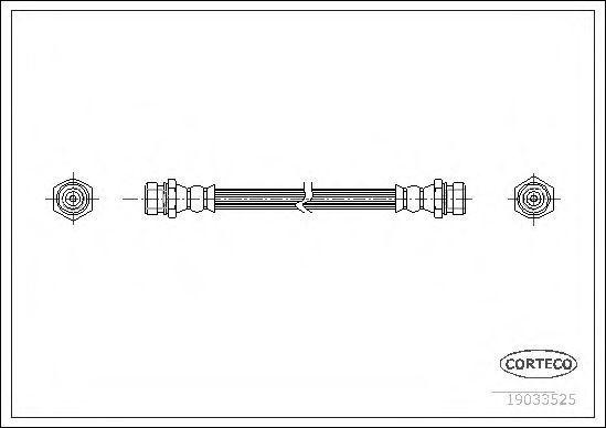 Шланг тормозной CORTECO 19033525