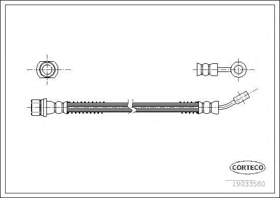 Шланг тормозной CORTECO 19033580