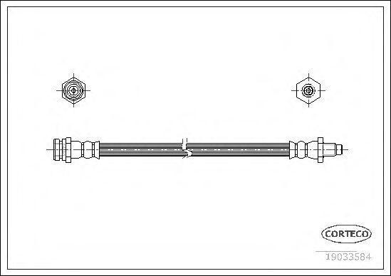 Шланг тормозной CORTECO 19033584