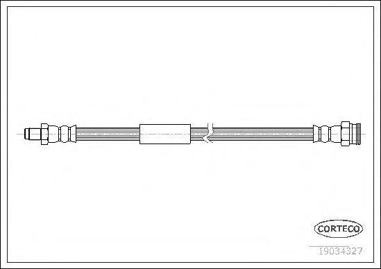 Шланг тормозной CORTECO 19034327