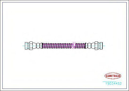 Шланг тормозной CORTECO 19034452