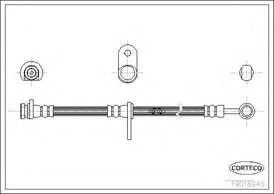 Шланг тормозной CORTECO 19018940