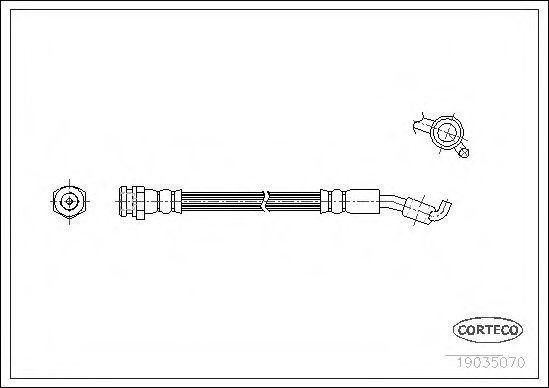 Шланг тормозной CORTECO 19035070