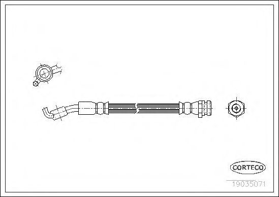 Шланг тормозной CORTECO 19035071