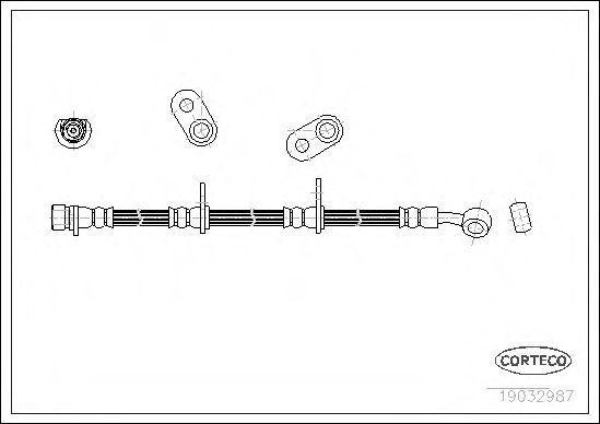Шланг тормозной CORTECO 19032987