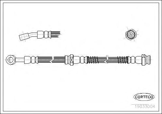 Шланг тормозной CORTECO 19033004
