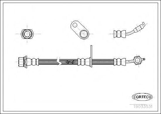 Шланг тормозной CORTECO 19033531