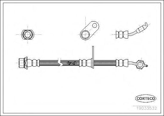 Шланг тормозной CORTECO 19033532