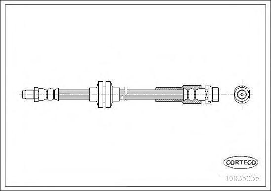Шланг тормозной CORTECO 19035035