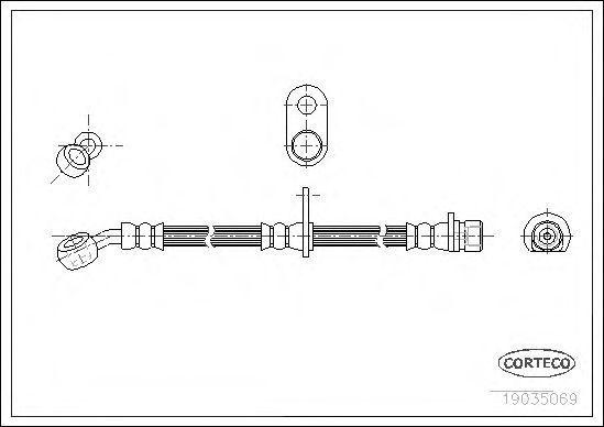 Шланг тормозной CORTECO 19035069