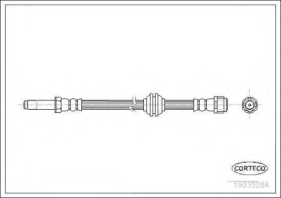 Купить Шланг тормозной передний CORTECO 19035284