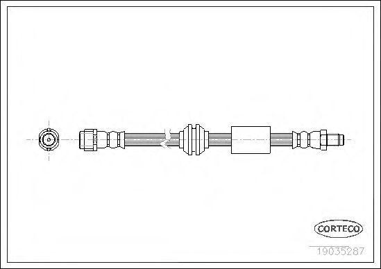 Шланг тормозной CORTECO 19035287