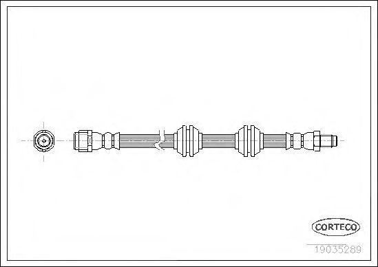 Шланг тормозной CORTECO 19035289