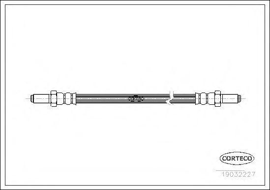 Тормозной шланг CORTECO 19032227