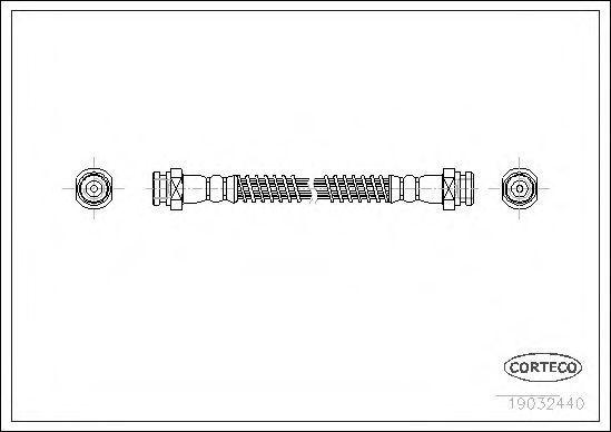 Шланг тормозной CORTECO 19032440