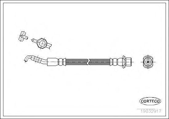 Шланг тормозной CORTECO 19032917