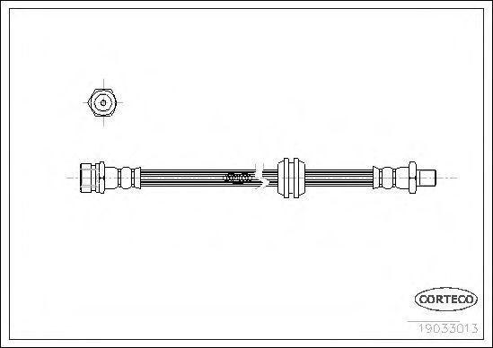 Шланг тормозной CORTECO 19033013