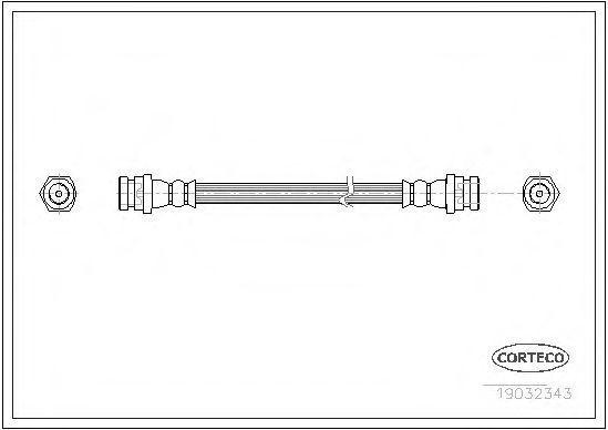 Шланг тормозной CORTECO 19032343
