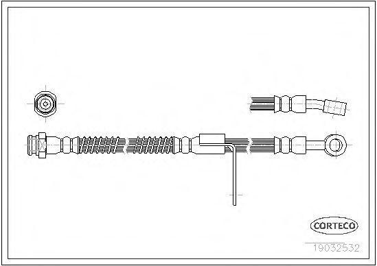 Шланг тормозной CORTECO 19032532