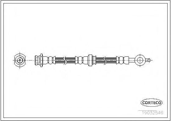 Шланг тормозной CORTECO 19032546