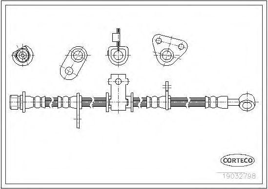 Тормозной шланг CORTECO 19032798