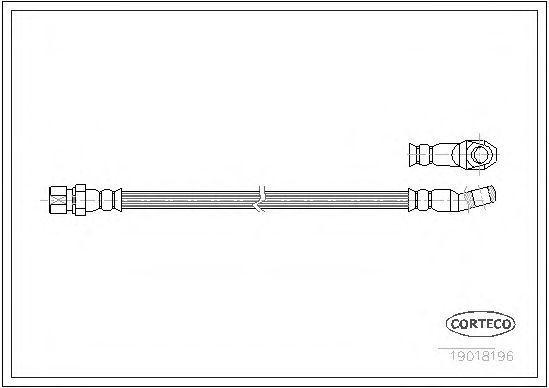Шланг тормозной CORTECO 19018196