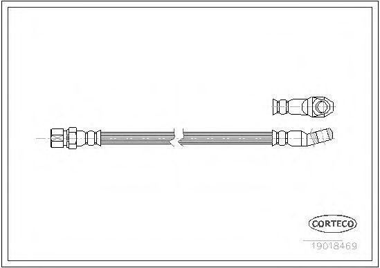 Шланг тормозной CORTECO 19018469