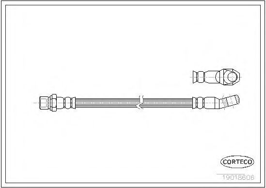 Тормозной шланг CORTECO 19018606