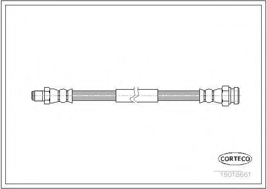 Шланг тормозной CORTECO 19018661