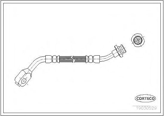 Шланг тормозной CORTECO 19030529