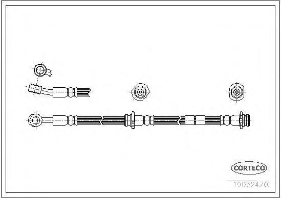 Шланг тормозной CORTECO 19032470