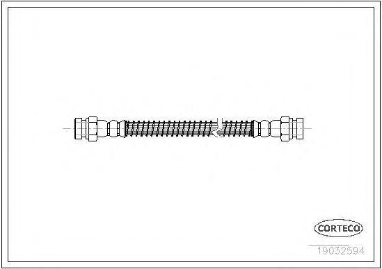 Шланг тормозной CORTECO 19032594