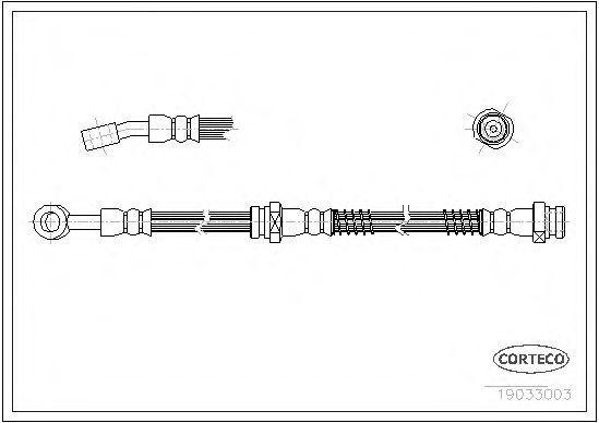 Шланг тормозной CORTECO 19033003