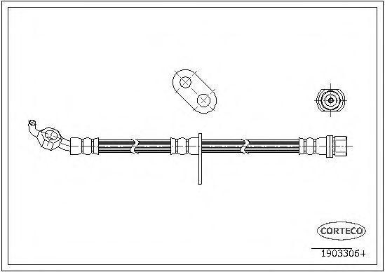 Шланг тормозной CORTECO 19033064
