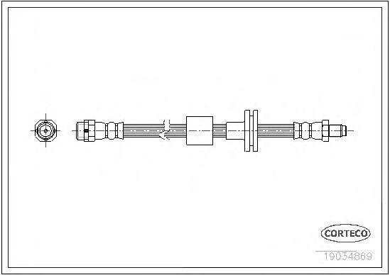 Шланг тормозной CORTECO 19034869