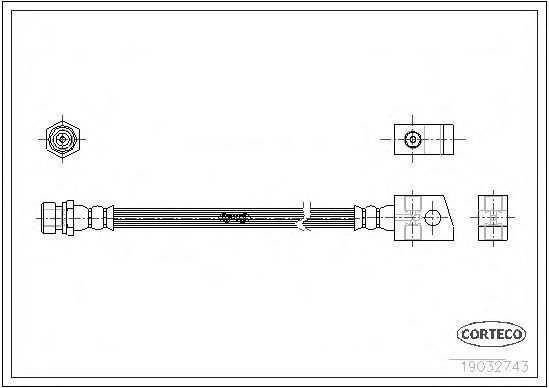 Шланг тормозной CORTECO 19032743