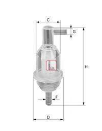 Фильтр топливный SOFIMA S1013B