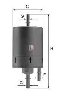 Фильтр топливный SOFIMA S 1831 B
