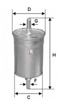 Фильтр топливный SOFIMA S1844B