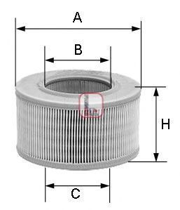 Фильтр воздушный SOFIMA S2040A