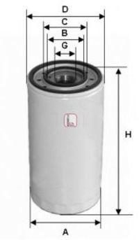 Фильтр масляный SOFIMA S3003DR