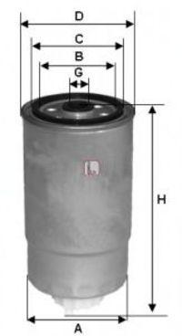 Фильтр топливный SOFIMA S8500NR