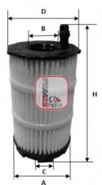Фильтр масляный SOFIMA S5143PE