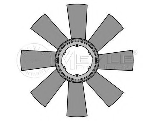 Крыльчатка вентилятора, охлаждение двигателя MEYLE 0342320014