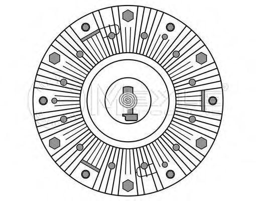 Сцепление, вентилятор радиатора MEYLE 12142340020