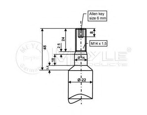 Изображение Амортизатор подвески газовый MEYLE 3266240007: продажа