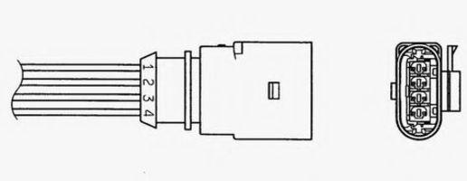 Лямбда-зонд NGK 93048