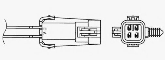 Лямбда-зонд NGK 1870